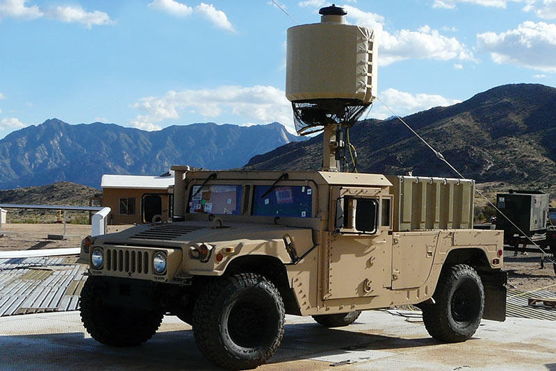 LCMR mounted on military vehicle