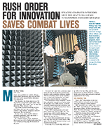Rush Order for Innovation Saves Combat Lives